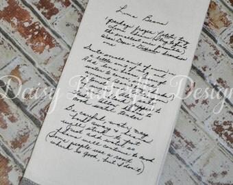 Handwritten Keepsake Kitchen Towel