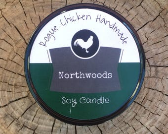 Northwoods 7.5oz Soy Wax Scented Candle
