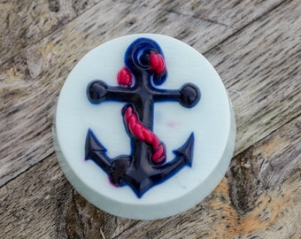 Natural Moisturizing Nautical Soap Detergent Free soap, Anchor,  Linen Fresh Scented