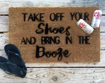 Shoes and booze rug