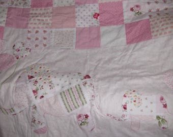 Pink Mommy & Me Baby Quilt