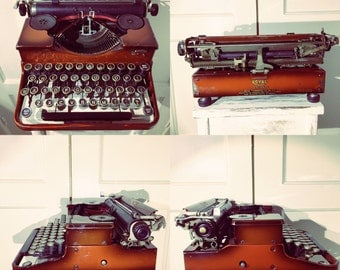 Very Rare fully working Royal Portable typewriter in Ox-Blood red colour