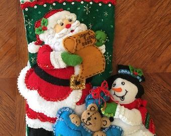 "Bucilla handmade 18"" Christmas stocking"