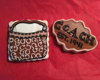 1 dozen Coach inspired individually wrapped cookie favors