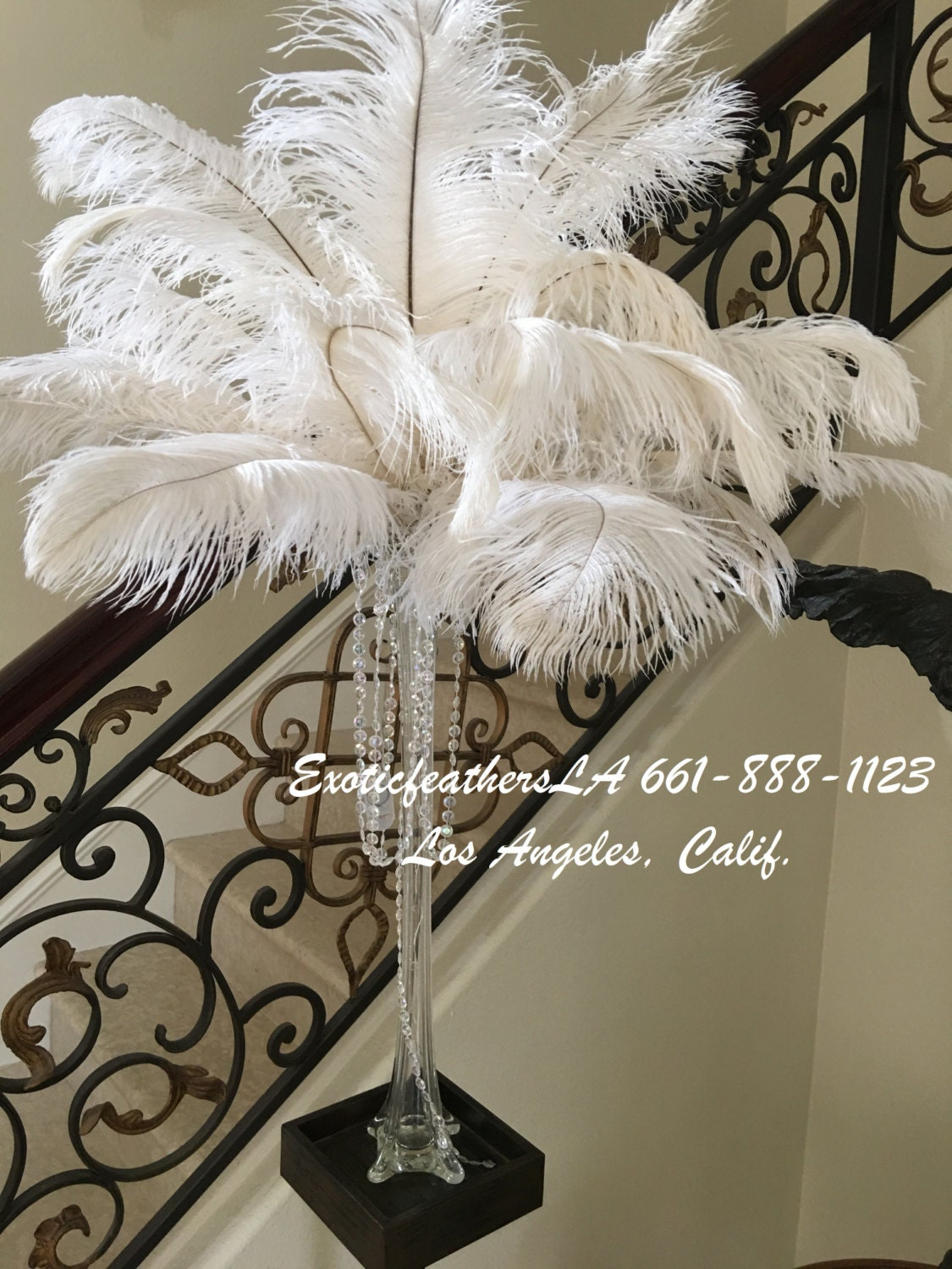 Pcs white ostrich feathers quot u s a supplier
