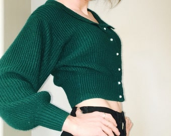 Vintage S Emerald green sweater