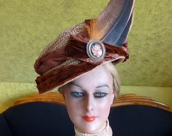 1904 BOURDERIONNET Hat, Edwardian Hat, Antique Hat, Paris