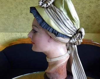 1870 ABEL BRUN Bonnet, antique Bonnet, Victorian Bonnet, antique Hat, Nevers