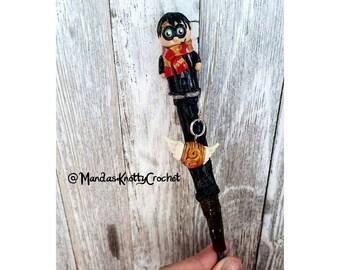 Harry Potter Inspired Crochet Hook and Stitch Marker Set