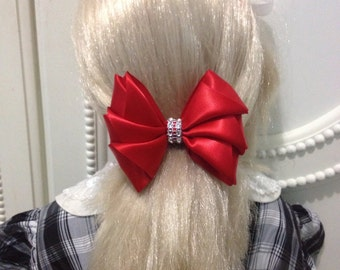 Hair tie bow satin
