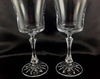 Towle leaded crystal wine glass pair.