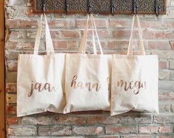 5 Bridesmaid Bag, Bridesmaid Tote, Custom Tote, Wedding Tote, Custom Bag, Bridesmaid Proposal, Custom Bag, Wedding Gift, Bridesmaid