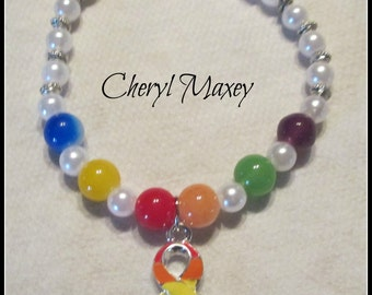 Gay Pride Stretch Bracelet