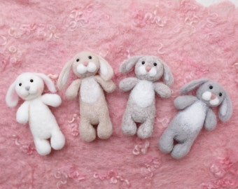 Felted bunny stuffy newborn photography prop