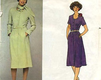 "1970s Vintage VOGUE Sewing Pattern B36"" DRESS (1710) By Pierre Balmain"