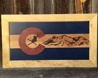 Colorado Freestyle Skier Mountains Background