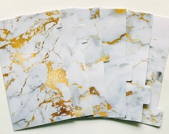 Gold Marble - Planner Dividers/Planner accessories