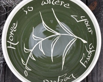 "Celebration Bowl, Fern Pattern, 12"""