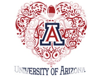 University of Arizona Ornate SVG Heart