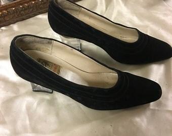 Black Heel with glass heel