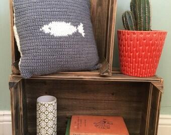 Folk art style cushion