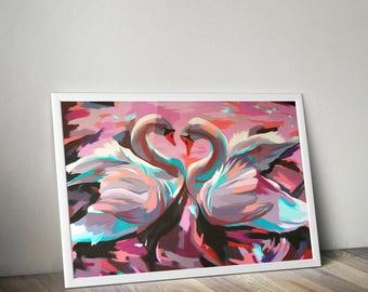Swans - Giclee print