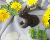 Felted miniature - Brown hare - Needle felted hare - Soft sculpture - Needle felted miniature