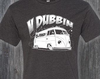 V Dubbin Slammed Bus VW T Shirt