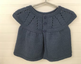 Blue Knit Baby Top