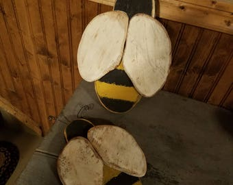 Set of two Primitive Bees
