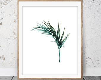 Palm Leaf Poster, Palm Leaf, Palm Leaf Print, Palm Leaves Print, Palm Leaf Wall Decor, Tropical Leaf Print, Printable Leaf Palm, Tropical