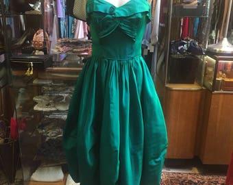 Gorgeous blue/green iridescent 1950s dress