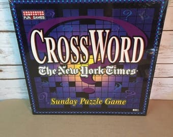 Crossword 1997 The New York Times Sunday Puzzle Board Game Herbko International Sealed 2 To 6 Players Or 2 To 6 Teams