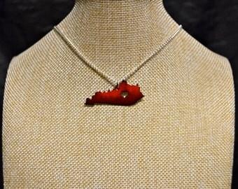 Red/Black Fade Handmade Kentucky Stone Necklace!