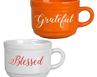 Inspirational Soup Mug with handle