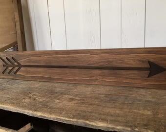 Arrow, Rustic Wooden Sign, Farmhouse Home Decor, Laser Engraved