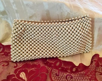 Vintage pearl/beaded clutch purse