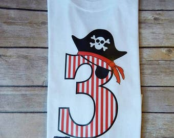 Pirate Theme Birthday white short sleeve Shirt