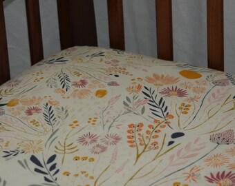 Fitted Crib Sheet - Wispy Daybreak Aura