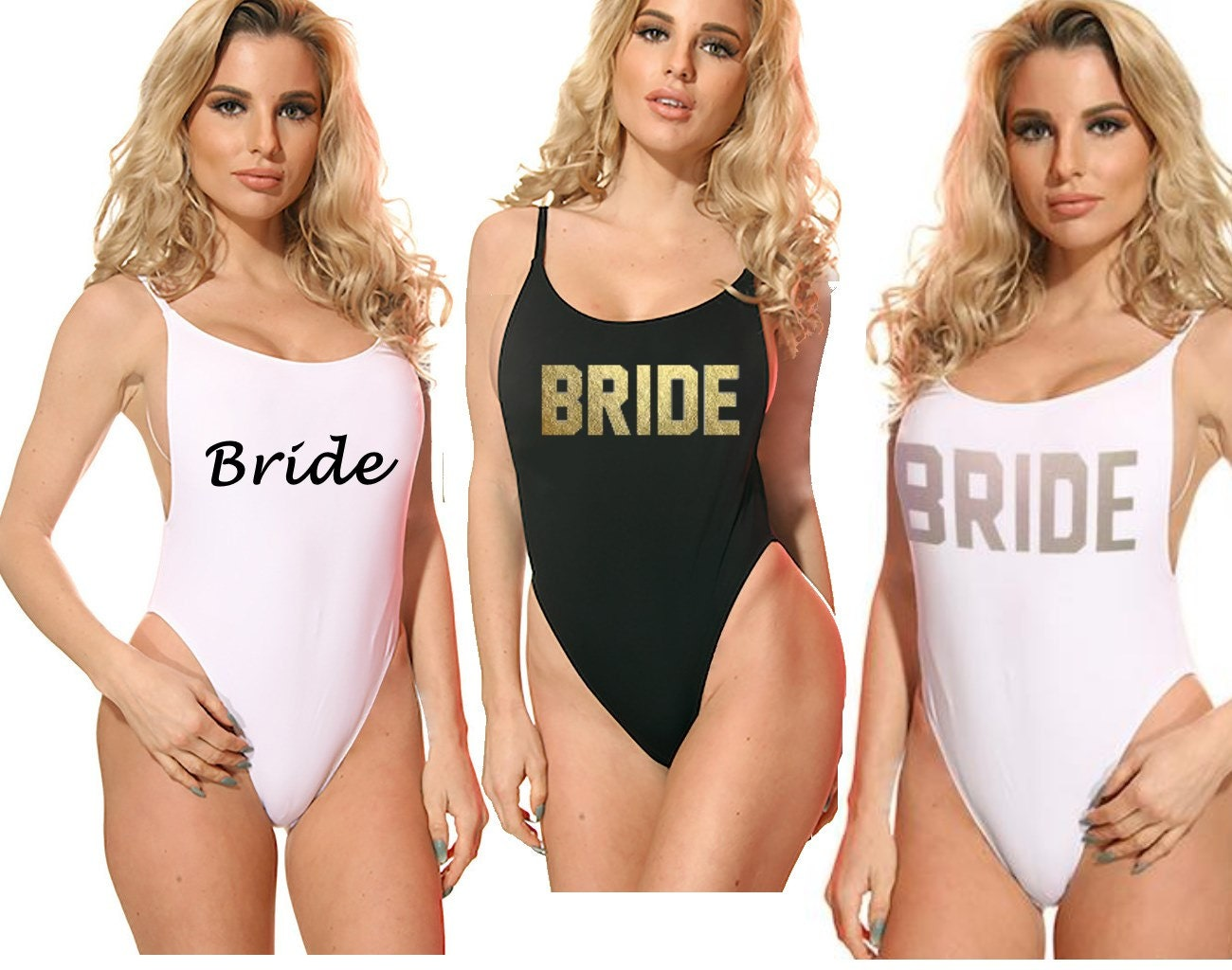 Custom Bride Swimsuit Bridal One Piece Swimwear Color