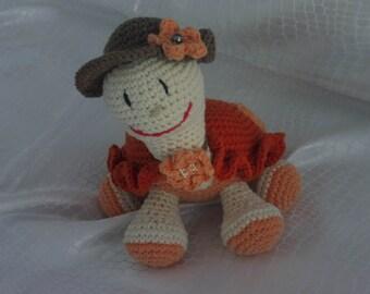 Crochet amigurumi turtle blanket