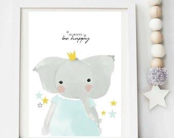 Always be happy - elephant