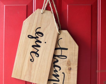 Give Thanks/Merry Christmas Door Hanging