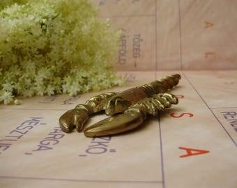 Vintage,  copper corkscrew,bottle opener,crayfish design