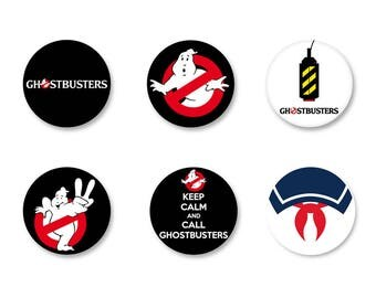 Batch Badge Button Pinback pine o25mm - o38mm / o38mm Film Movie called Ghostbusters Ghostbusters Magnet