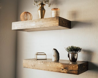 Floating Shelf - Modern Shelf - Shelving - Shelf - Wall Shelves - Rustic Home Decor - Chunky Shelves - Shelves - Bathroom Shelf - Custom