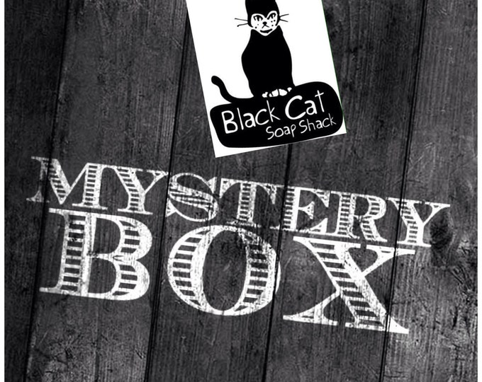 Black Cat Soap Shack Mystery Box- 5 Pack, Soap Sale, Book Soap, Handmade Soap