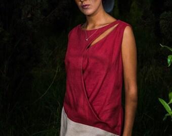 Linen-cotton blouse.