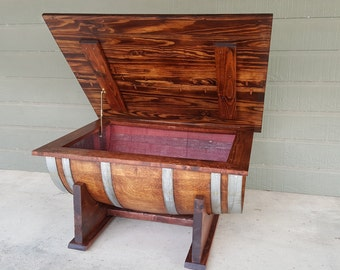 Wine Barrel Coffee Table Living Room Dining Room Furniture Storage