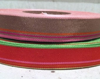 "5/8"" (16 mm) Preppy striped grosgrain ribbon"